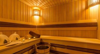 en el sauna